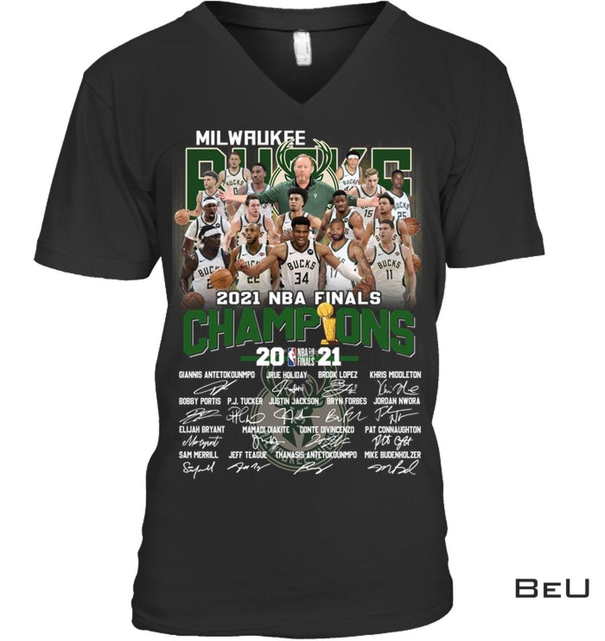 Real Milwaukee Brewers 2021 Nba Final Champion Shirt