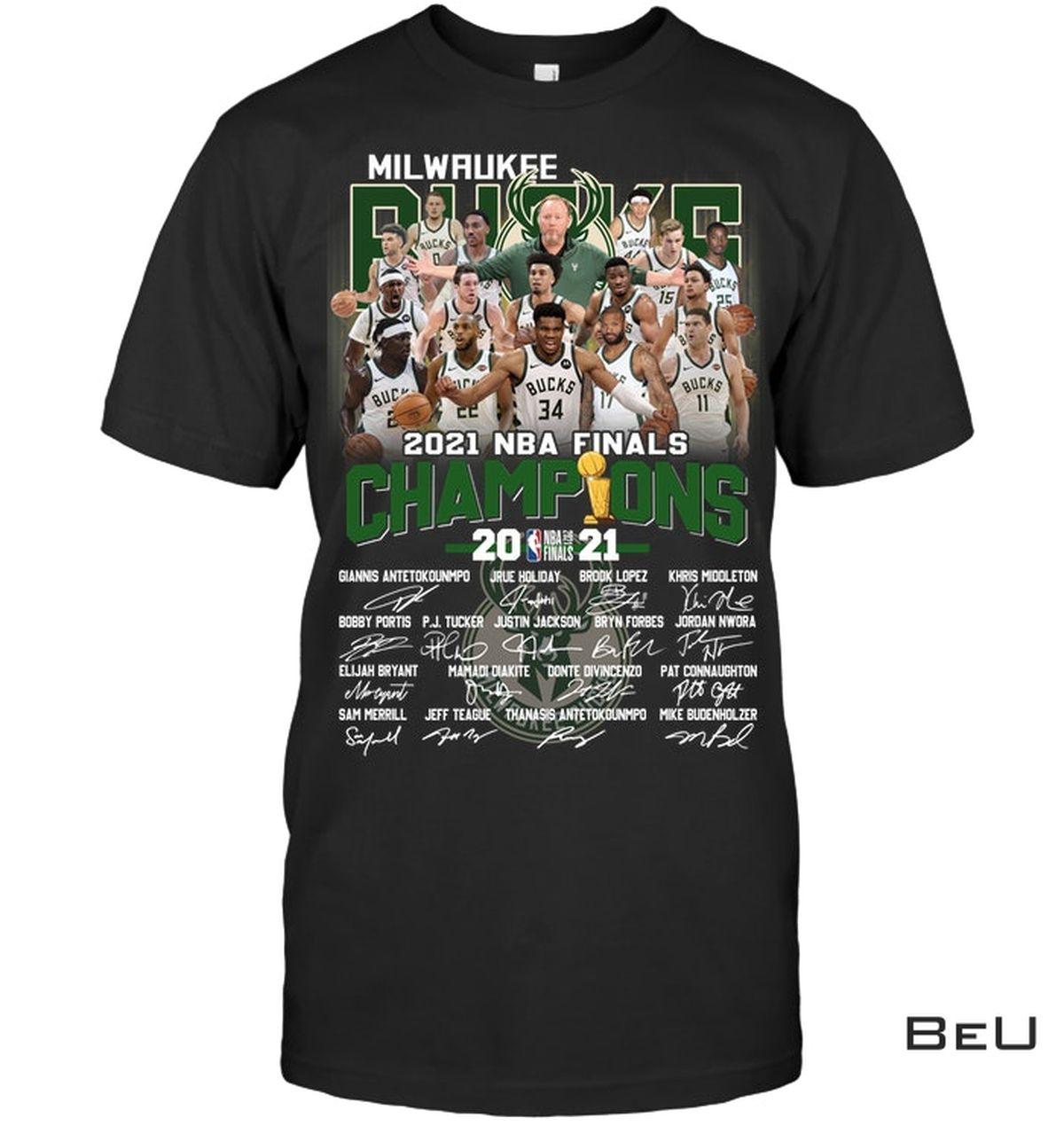Milwaukee Brewers 2021 Nba Final Champion Shirt