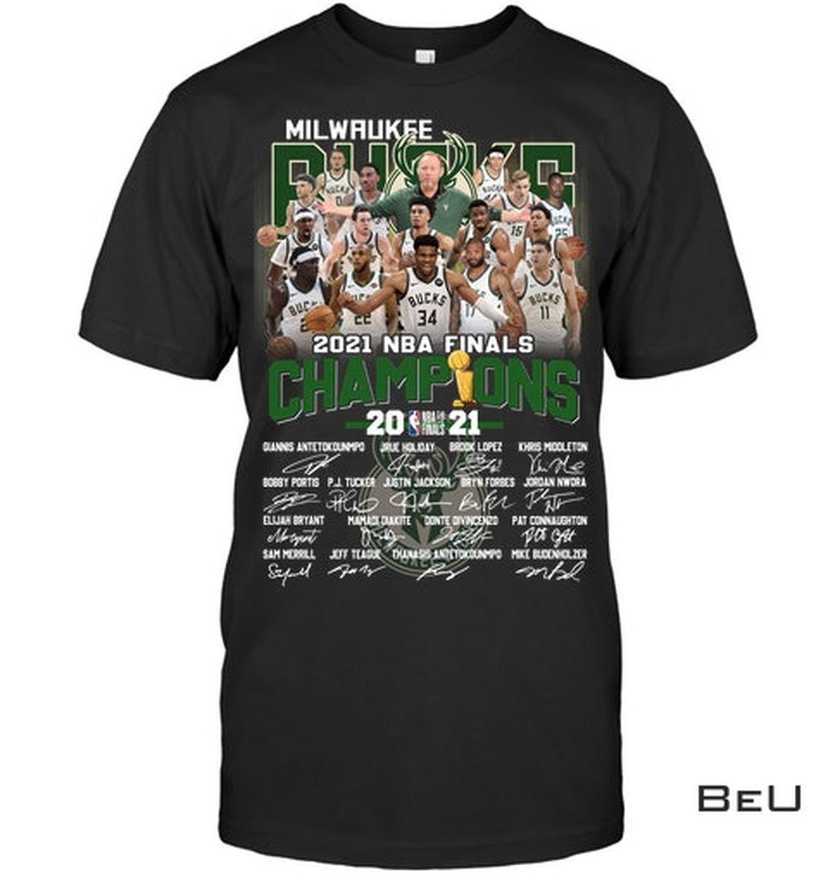 Milwaukee Brewers 2021 Nba Final Champions Shirt