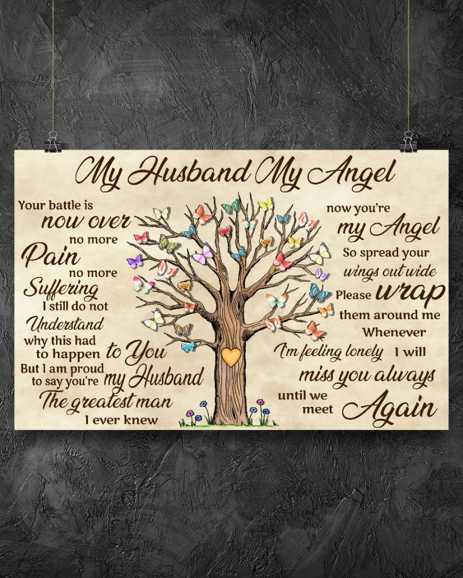 Fantastic My Husband My Angel Your Battle Is Now Over No More Pain Poster