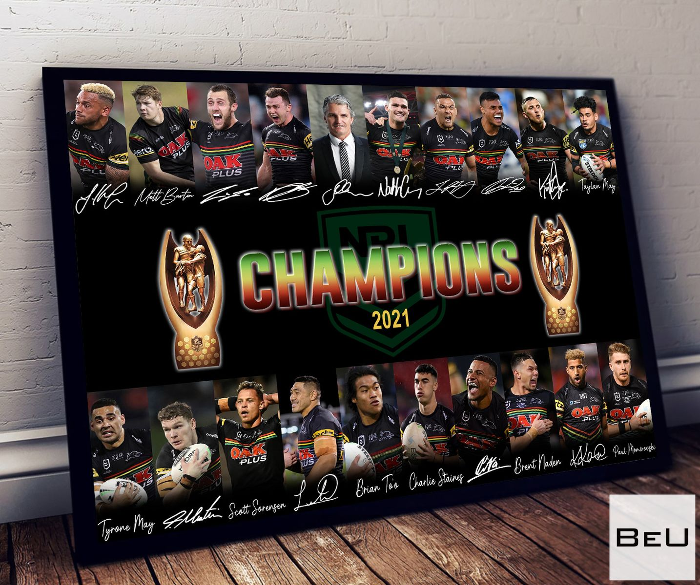 Penrith Panthers 2021 NRL Grand Final Champions Poster