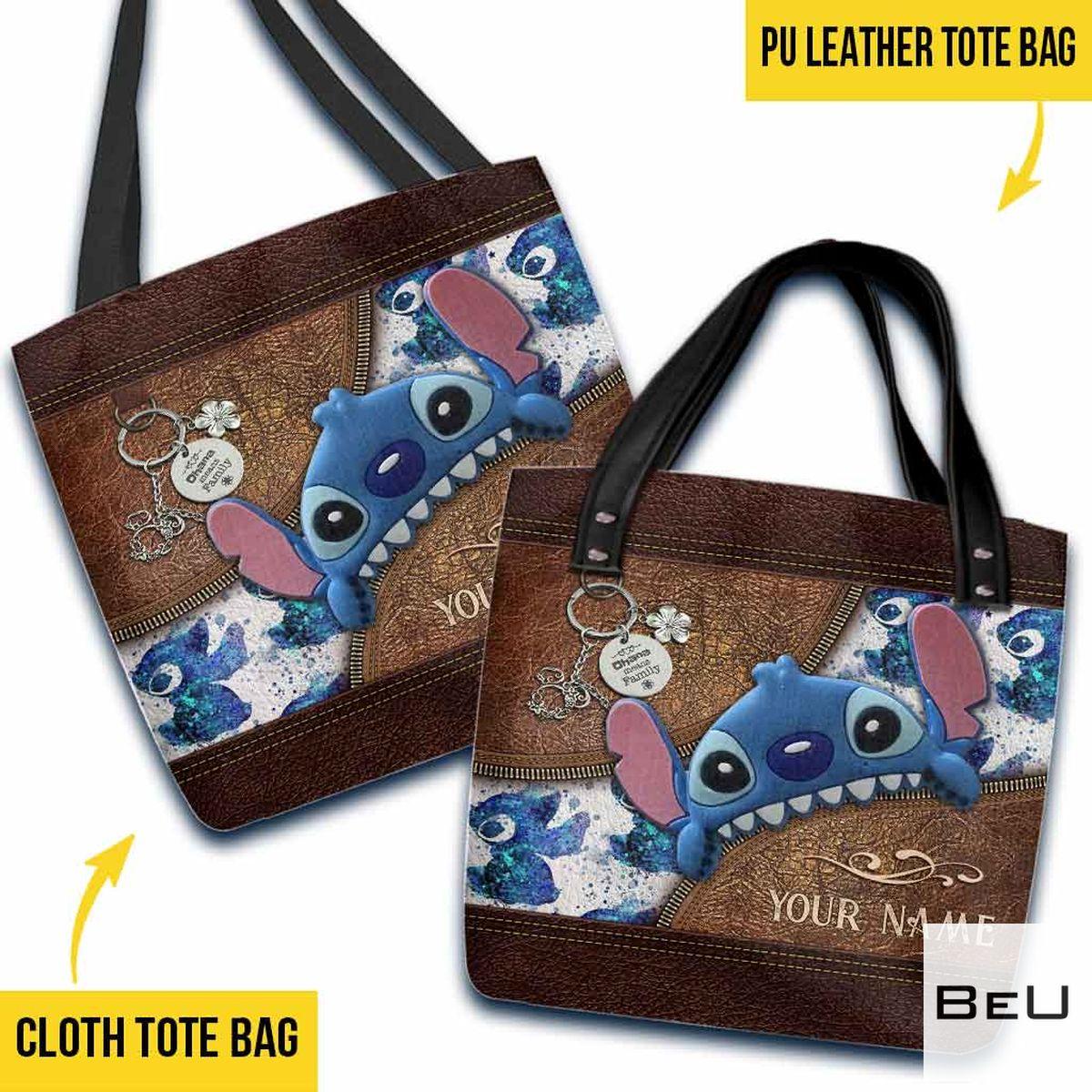 Personalized Stitch Tote Bag