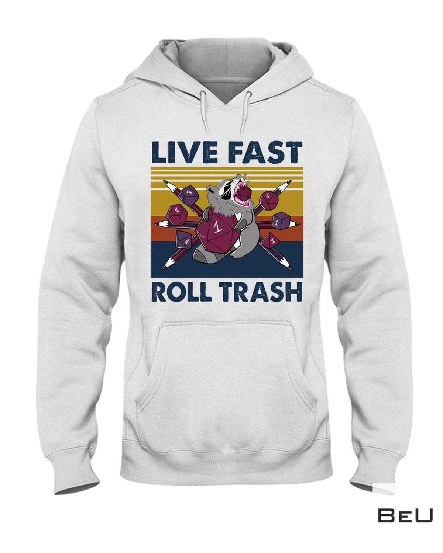 Racoon Live Fast Roll Trash Shirt a