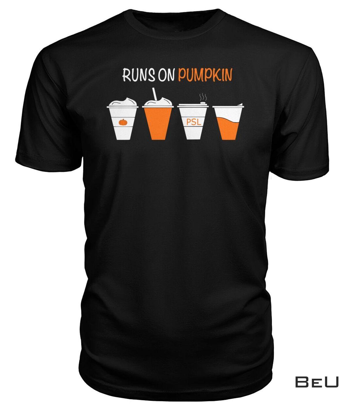 Print On Demand Runs On Pumpkin Shirt, Hoodie, Tank Top
