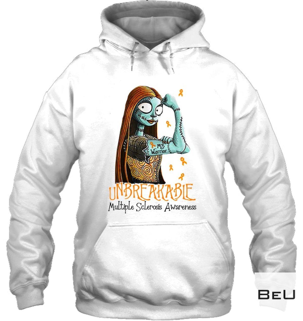 Popular Sally Unbreakable Multiple Sclerosis Awareness Shirt, Hoodie, Tank Top