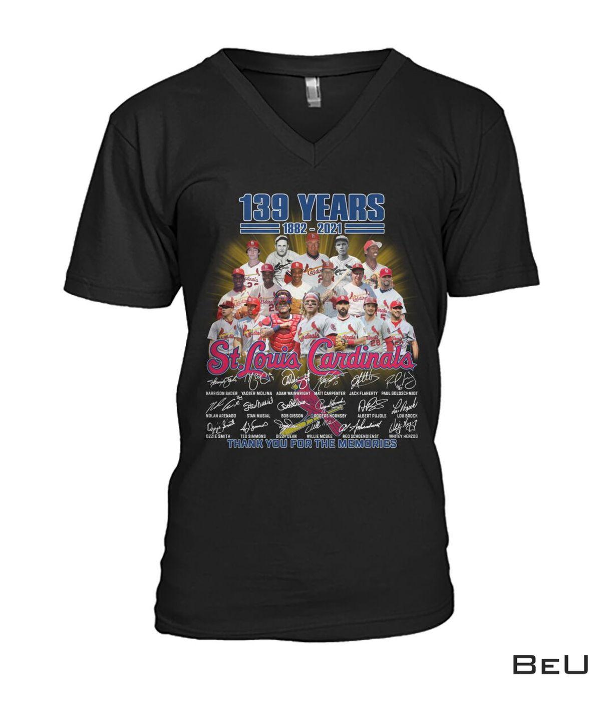 Best Gift St Louis Cardinals 139 Years Anniversary Shirt