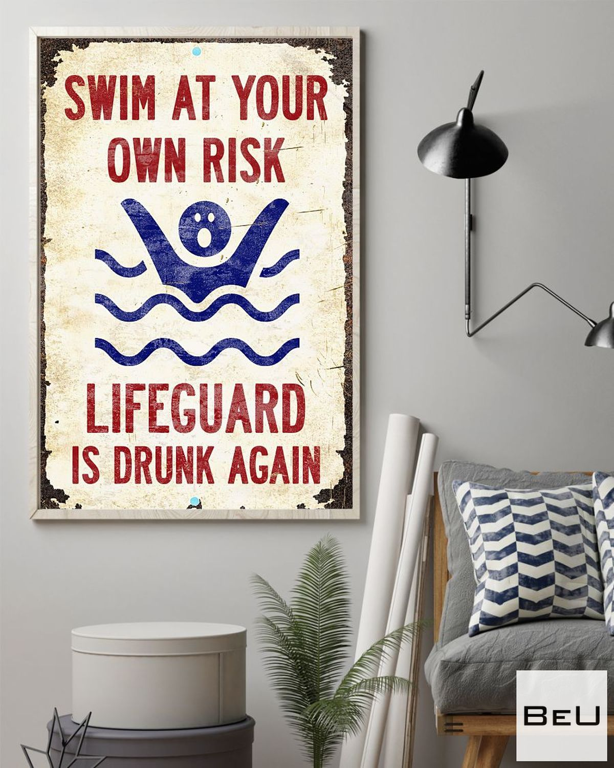 Top Swim At Your Own Risk Lifeguard Is Drunk Again Poster