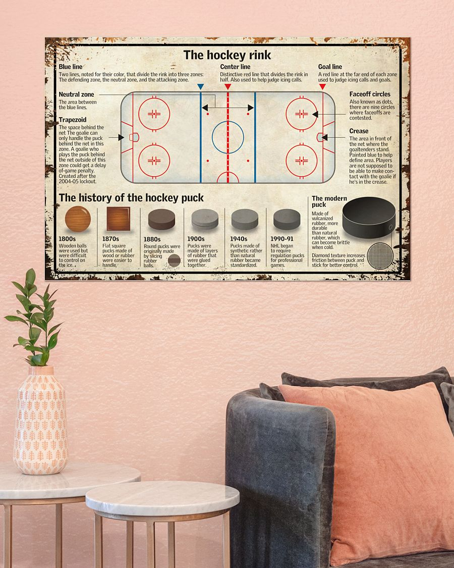 Gorgeous The Hockey Rink Poster