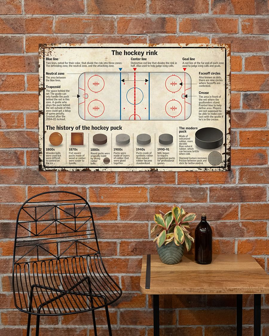 Review The Hockey Rink Poster