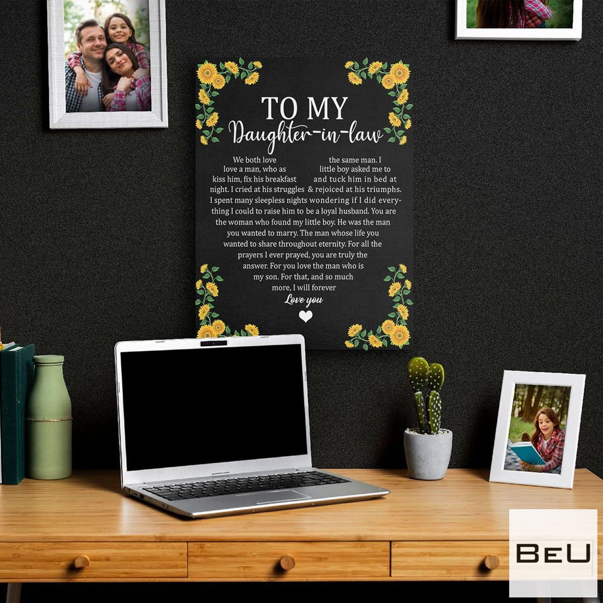 Sale Off To My Daughter In Law Sunflower Poster