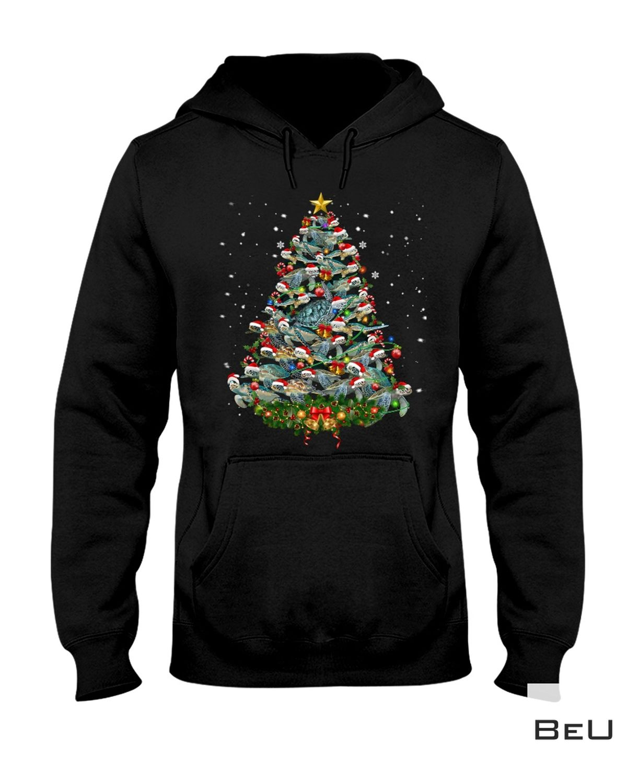 Awesome Turtle Christmas Tree Shirt