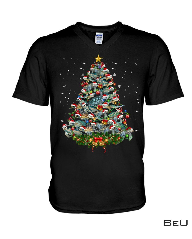 Real Turtle Christmas Tree Shirt