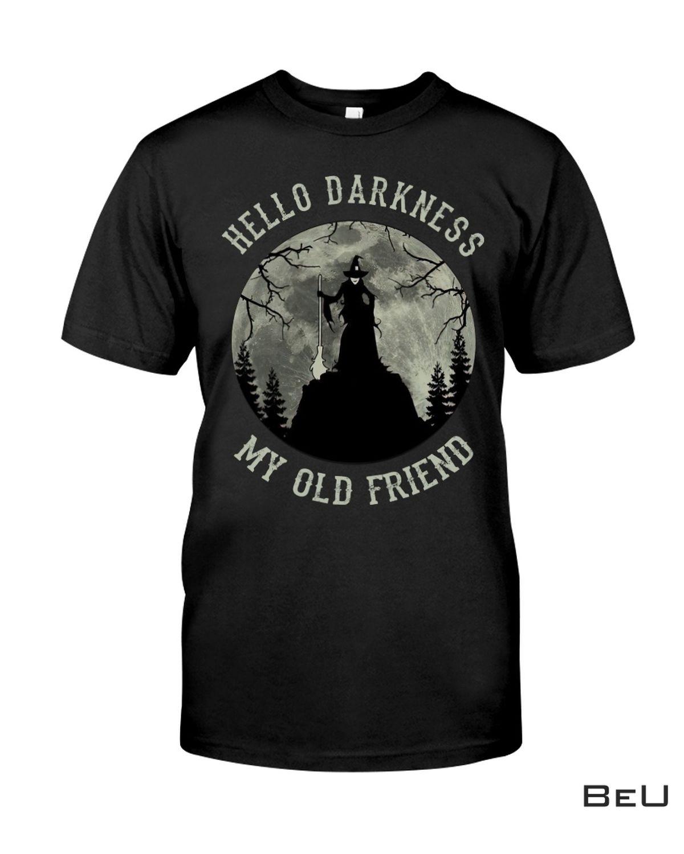 Witch Hello Darkness My Old Friend Shirt